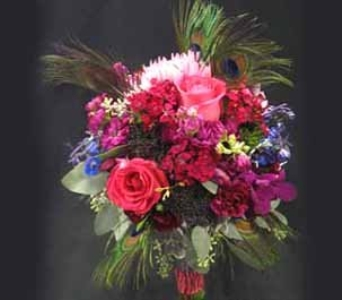 Pink and Purple Bridal Bouquet in Kennewick WA, Heritage Home Accents & Floral