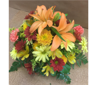 Harvest Time Centerpiece in Port St Lucie FL, Flowers By Susan