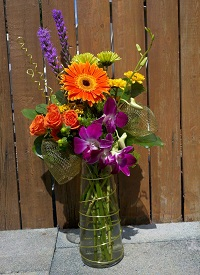 Modern Style Arrangement in Kingston NY, Flowers by Maria