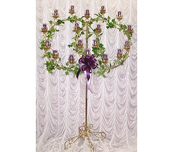 Brass Double Ring Candelabra in Grand Island NE, Roses For You!
