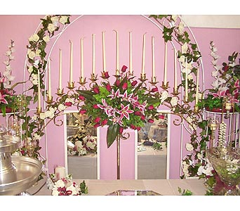 Brass C-Column Arch Candelabra in Grand Island NE, Roses For You!