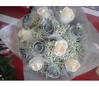 1 Doz silver and white in Rowland Heights CA, Charming Flowers
