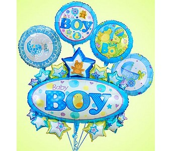 Baby Boy Marquee Mylar Bundle  in Concord CA, Jory's Flowers