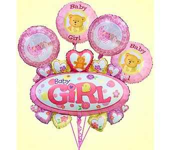 Baby Girl Marquee Mylar Bundle  in Concord CA, Jory's Flowers