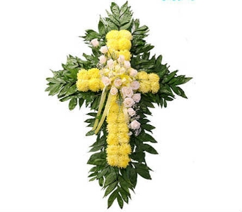 Yellow Cross Spray  in Indianapolis IN, Berkshire Florist