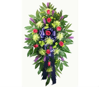 Youthful Remembrance Standing Spray in Indianapolis IN, Berkshire Florist