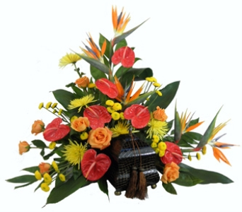 Tropical Paradise Cremation Setting in Indianapolis IN, Steve's Flowers & Gifts