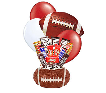 Alabama Football Candy Bouquet in Birmingham AL, Norton's Florist