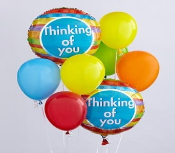 Thinking of You Balloon Bunch in Waltham MA, Waltham's Florist