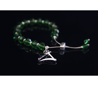 Zoe Green Crystal Bracelet in Twin Falls ID, Absolutely Flowers