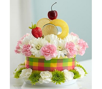 Fresh Flower Cake� Fruit Cake  in Concord CA, Jory's Flowers