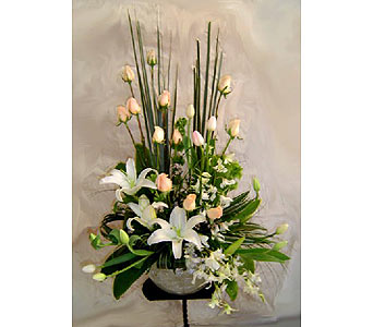 White Lillies in San Antonio TX, Blooming Creations Florist