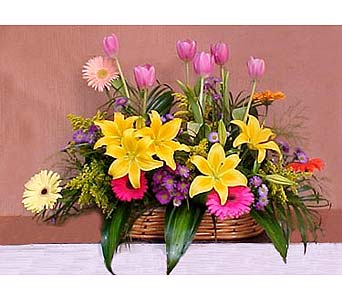 Pretty Basket in San Antonio TX, Blooming Creations Florist