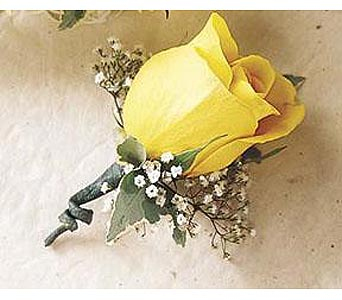 Yellow rose bouttonier in San Antonio TX, Blooming Creations Florist