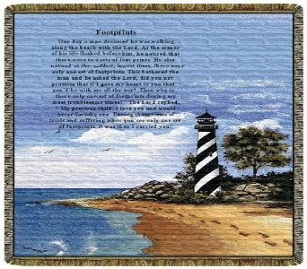 Light house Footprints Tapestry Throw in Columbus OH, OSUFLOWERS .COM