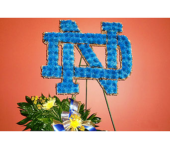 Notre Dame Logo in Nashville TN, Flowers By Louis Hody