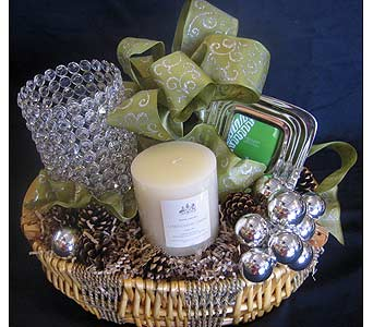 Christal Hurricane Candle Basket in Los Angeles CA, Dave's Flowers