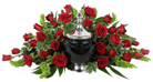Signature Collection Rose Cremation Setting in Scranton PA, McCarthy Flower Shop<br>of Scranton
