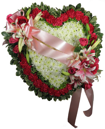 Love''s Garden Solid Heart Set Piece in Scranton PA, McCarthy Flower Shop<br>of Scranton