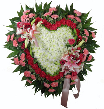 Love''s Garden Deluxe Solid Heart Set Piece in Clarks Summit PA, McCarthy-White's Flowers