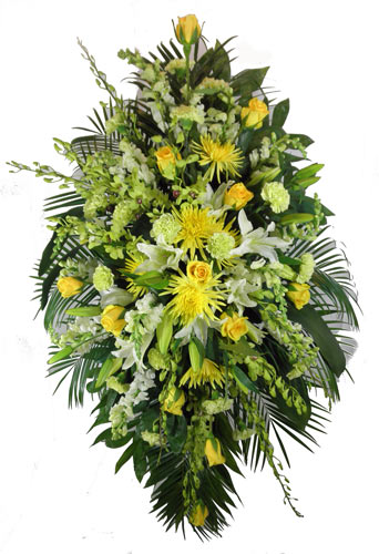 Sunshine Sentiments Deluxe Spray on a Stand in Scranton PA, McCarthy Flower Shop<br>of Scranton