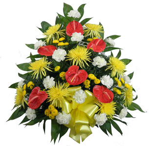Tropical Paradise Fuji, Anthurium, Carnation Mache in Scranton PA, McCarthy Flower Shop<br>of Scranton