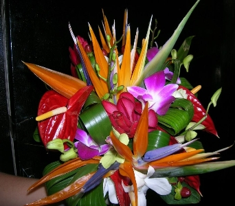 Tropical Bouquet in Orange Beach AL, Flowers By The Shore