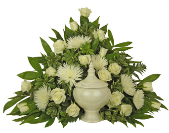 Simple Devotion White Classic Cremation Setting in Clarks Summit PA, McCarthy-White's Flowers