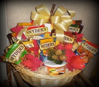 Pretzel and Snack Gift Sampler in Hanover PA, Country Manor Florist