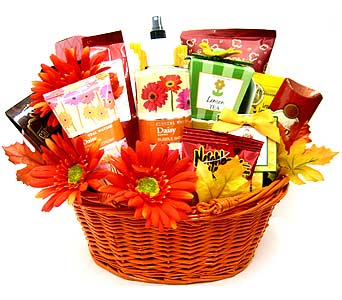 GF156 ''Soothe the Soul'' Gift Basket in Oklahoma City OK, Array of Flowers & Gifts