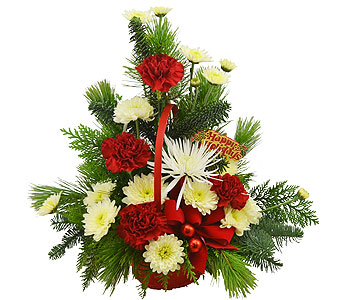 Christmas Cheer Basket in Port St Lucie FL, Flowers By Susan