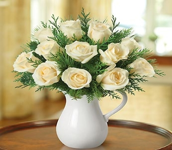 Elegant White Roses in Bluefield WV, Brown Sack Florist