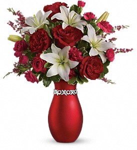 Teleflora's XOXO Bouquet with Red Roses in Northumberland PA, Graceful Blossoms