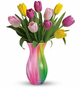 Teleflora's Spring Rainbow Bouquet in Uhrichsville OH, Twin City Greenhouse & Florist Shoppe