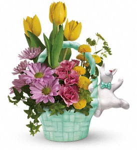 Teleflora's Send a Hug Funny Bunny Bouquet in 310 N Vine Street ON, Vine Floral