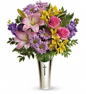 Teleflora's Silver Cross Bouquet in Meadville PA, Cobblestone Cottage and Gardens LLC