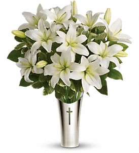 Teleflora's Sacred Cross Bouquet in Meadville PA, Cobblestone Cottage and Gardens LLC
