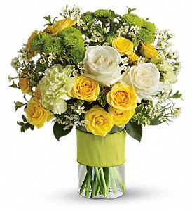 Your Sweet Smile by Teleflora in Durham NC, Floral Dimensions