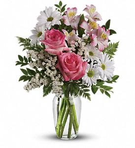 What a Treat Bouquet with Roses in Kalamazoo MI, Ambati Flowers