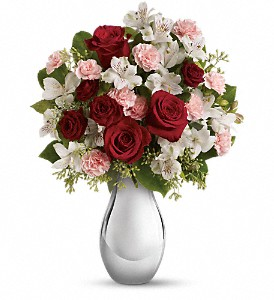Teleflora's Crazy for You Bouquet with Red Roses in Reno NV, Bumblebee Blooms Flower Boutique