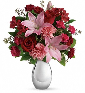 Teleflora's Moonlight Kiss Bouquet in Boerne TX, An Empty Vase