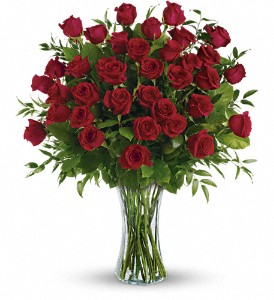 Breathtaking Beauty - 3 Dozen Long Stemmed Roses in Gothenburg NE, Ribbons & Roses