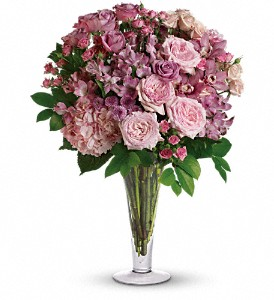 A La Mode Bouquet with Long Stemmed Roses in Boston MA, Exotic Flowers