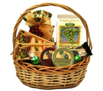 Wine Mixer and White Wine Buscuits Gourmet Basket in Birmingham AL, Norton's Florist