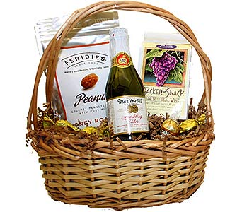 Sparkling Cider Party Basket in Birmingham AL, Norton's Florist
