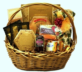 Golden Gourmet Gift Basket - Savory & Sweet with W in Birmingham AL, Norton's Florist