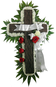 Signature Collection Memorial Cross in Denver CO, Lehrer's Flowers