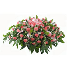 Love's Garden Carnation Garden-Style Casket Spray in Denver CO, Lehrer's Flowers