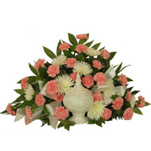 Timeless Traditions Pink Carnation Cremation Piece in Denver CO, Lehrer's Flowers