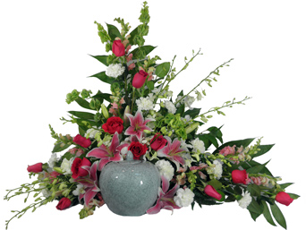 Love's Garden Cremation Setting in Raleigh NC, Fallon's Flowers
